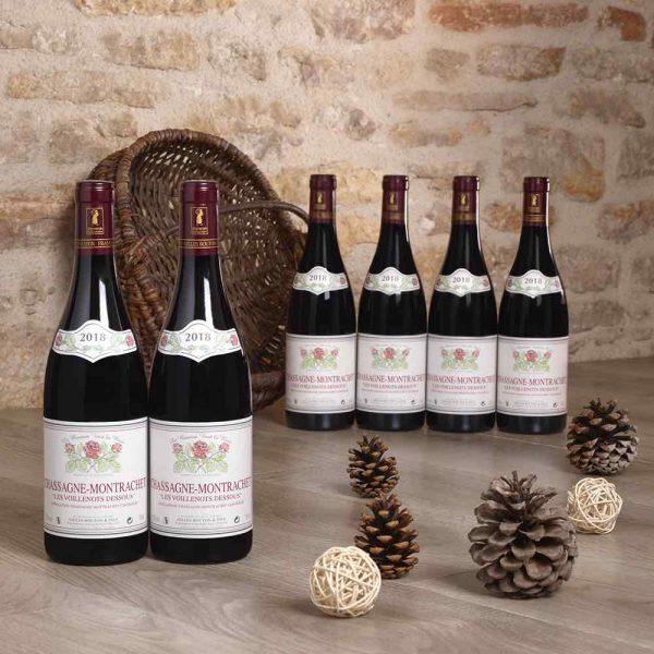 Batch of 6 -Chassagne-Montrachet Voillenots-Dessus rouge 2018, Domaine Gilles Bouton et Fils