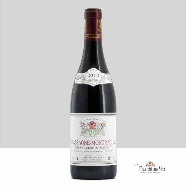 Chassagne-Montrachet Voillenots-Dessus rouge 2018, Domaine Gilles Bouton et Fils