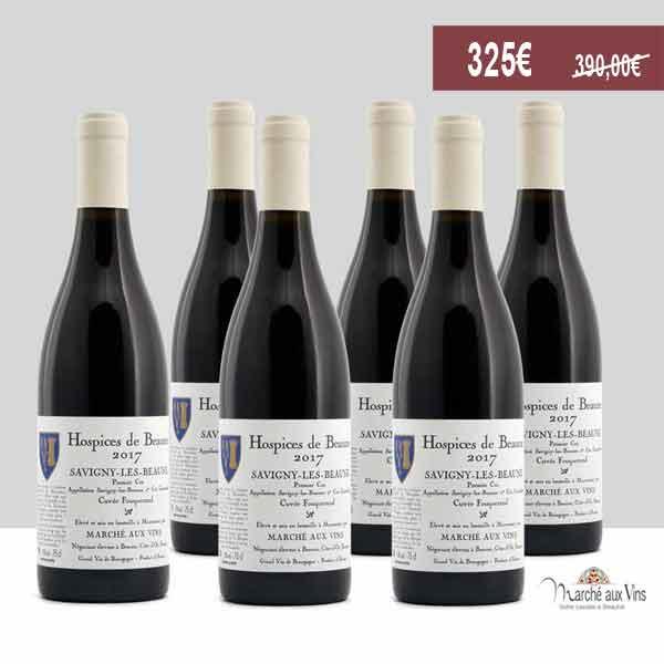 Lot de 6 - Savigny-Lès-Beaune Premier Cru, Hospices de Beaune, Cuvée Fouquerand 2017