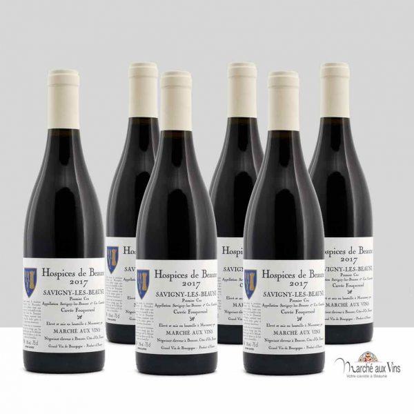 Batch of 6 - Savigny-Lès-Beaune Premier Cru, Hospices de Beaune, Cuvée Fouquerand 2017