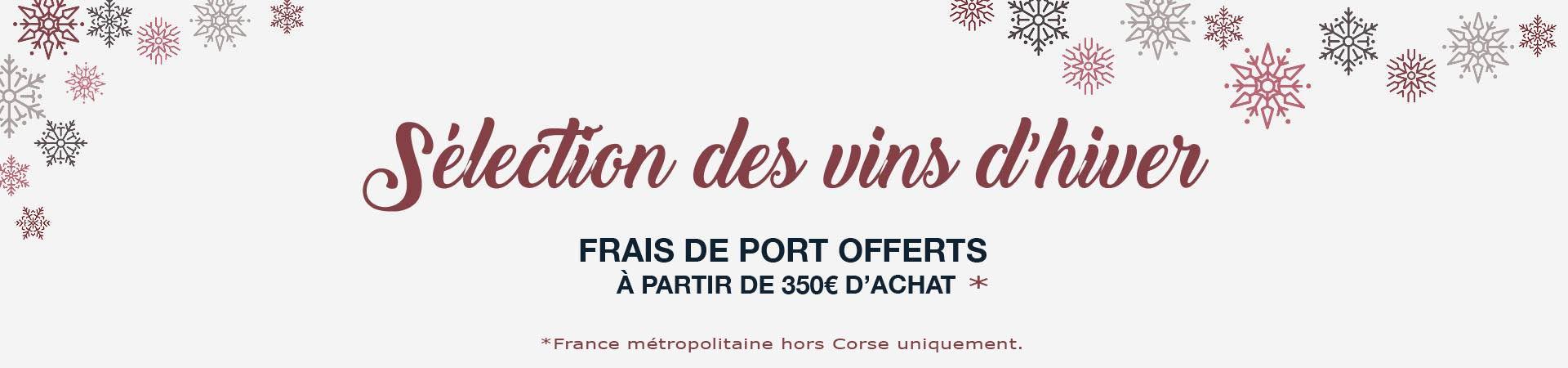 Sélection de vins d'hivers