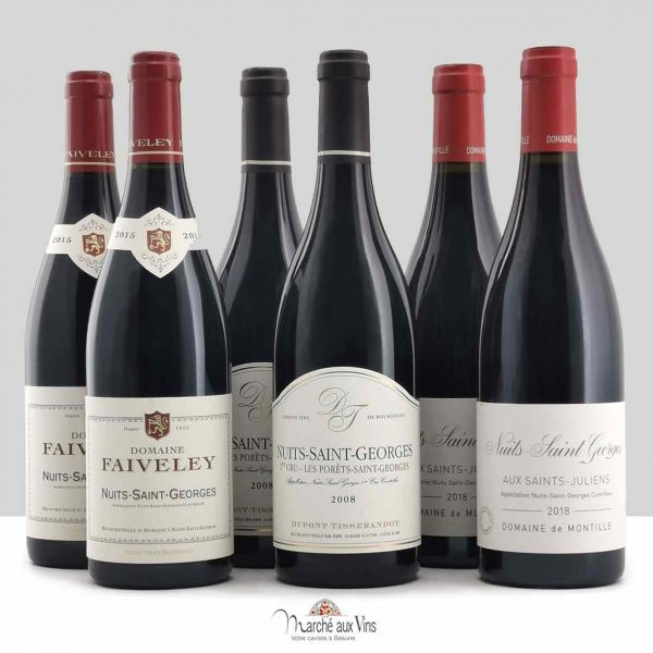 Set of 6 bottles Nuits Saint-Georges