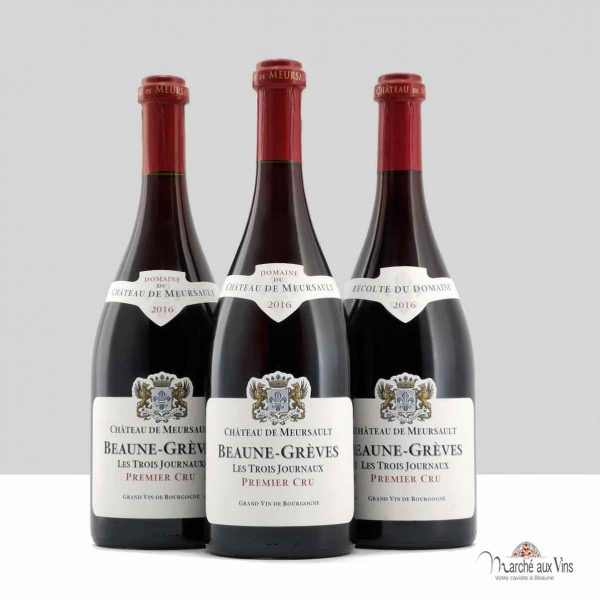 Lot de 3 Beaune Grèves Premier Cru Les Trois Journaux 2016, Château de Meursault