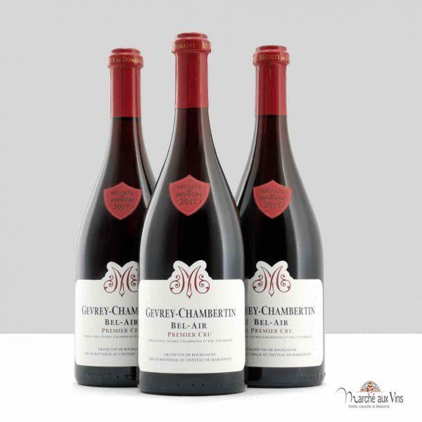 Lot de 3 - Gevrey-Chambertin Premier Cru Bel Air 2017, Château de Marsannay