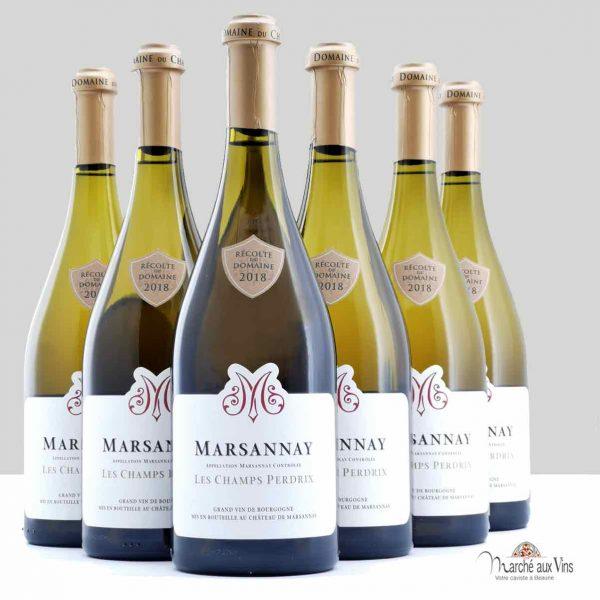 Lot de 6 - Marsannay, Les Champs Perdrix 2018, Château de Marsannay