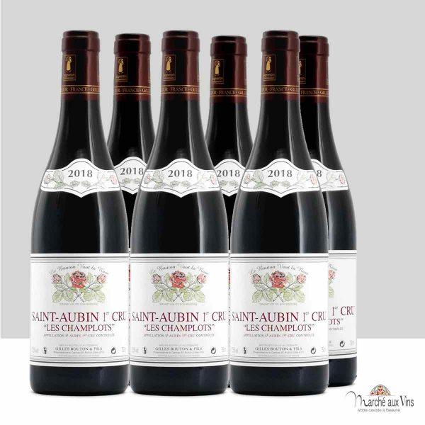 Lot de 6 - Saint-Aubin Premier Cru, Les Champlots rouge 2018, Domaine Gilles Bouton et Fils