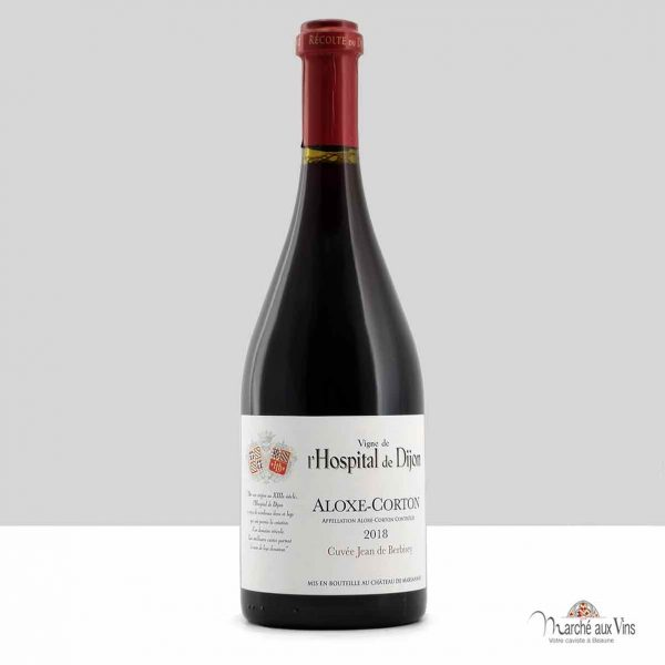 Aloxe-Corton Cuvée Jean de Berbisey 2018, vigne de l'Hospital de Dijon, Château de Marsannay