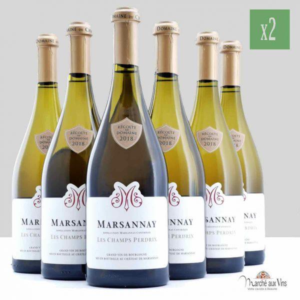 Lot de 12 - Marsannay Les Champs Perdrix 2018, Chateau de Marsannay