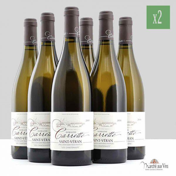 Lot de 12 - Saint-Véran Les Chatenays 2018, Domaine Carrette