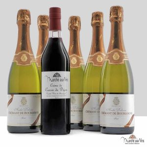Crémant de Bourgogne Brut blanc - André Delorme + Crème de Cassis de Dijon