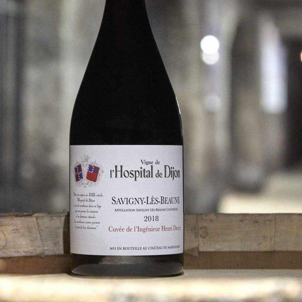 Lot de 6 - Savigny-Lès-Beaune Cuvée de l'Ingénieur Henri Darcy 2018, vigne de l'Hospital de Dijon - Château de Marsannay