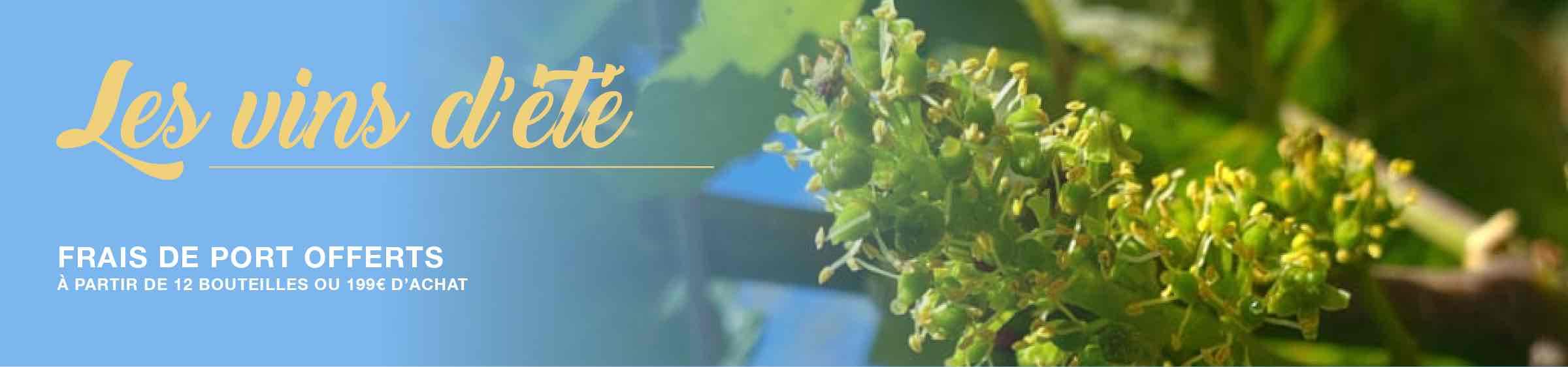 Sélection de vins d'été