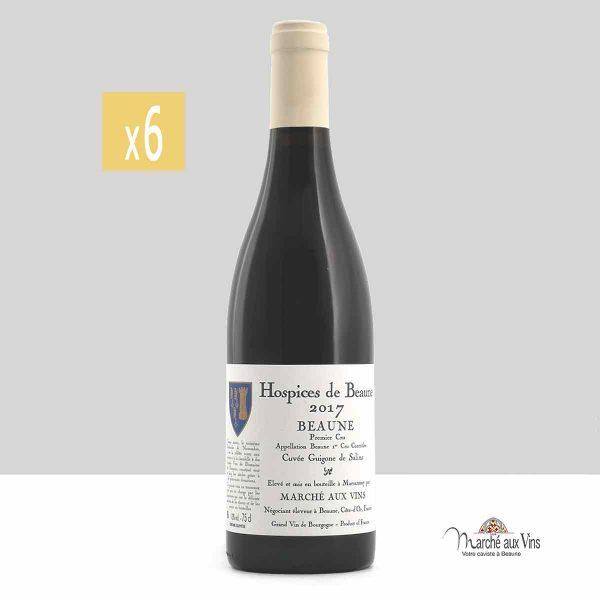 Lot de 6 -Beaune Premier Cru Cuvée Guigone De Salins 2017, Hospices de Beaune