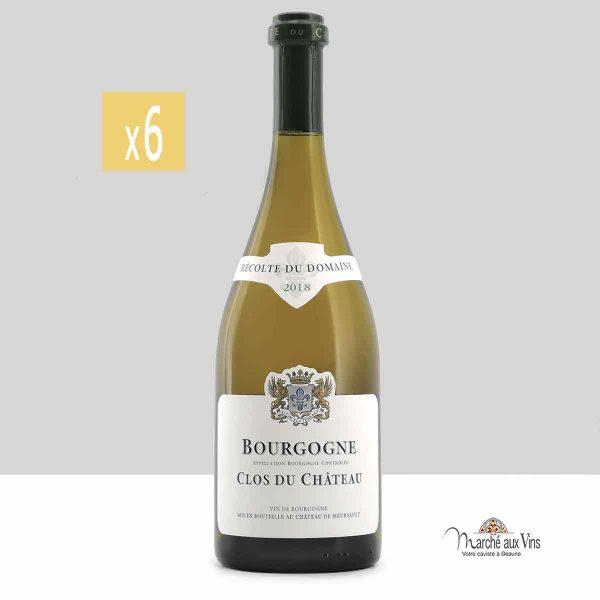 Lot de 6 -Bourgogne Clos du Château 2018, Château de Meursault