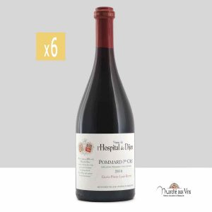 Lot de 6 -Pommard Premier Cru Cuvée Prieur Louis Berrier 2016, vigne de l'Hospital de Dijon