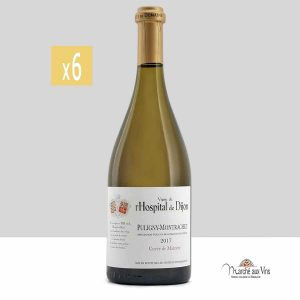 Set of 6 -Puligny-Montrachet, Cuvée de Maizière 2017, vigne de l'Hospital de Dijon - Château de Marsannay
