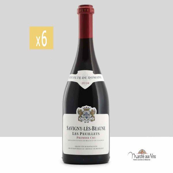 Lot de 6 -Savigny Peuillets Premier Cru 2018 rouge, Château de Meursault