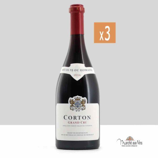 Lot de 3 - Corton Grand Cru 2016, Château de Meursault