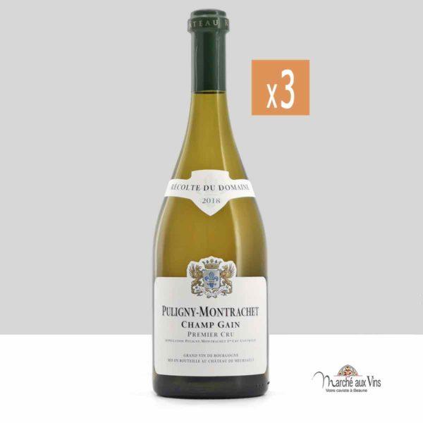 Lot de 3 - Puligny-Montrachet Premier Cru Champ-Gain 2018, Château de Meursault