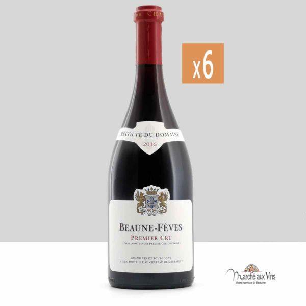 Set of 6 - Beaune Fèves Premier Cru  2016, Château de Meursault