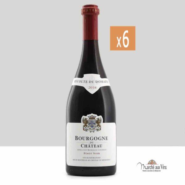 Lot de 6 - Bourgogne Pinot Noir 2018, Château de Meursault