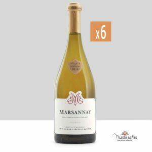 Set of 6 - Marsannay white 2018, Château de Marsannay