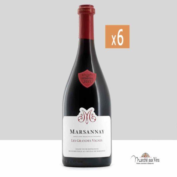 Lot de 6 - Marsannay Grandes Vignes 2017, Château de Marsannay
