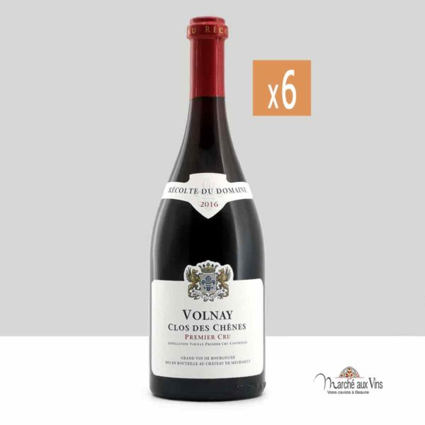 Lot de 6 - Volnay Premier Cru Clos des Chênes 2016, Château de Meursault