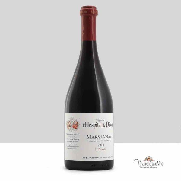 Marsannay La Plantelle 2018, vigne de l'Hospital de Dijon – Château de Marsannay